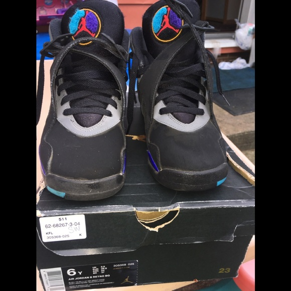 Air Jordan Aqua 8 Youth Kids Nike Shoes